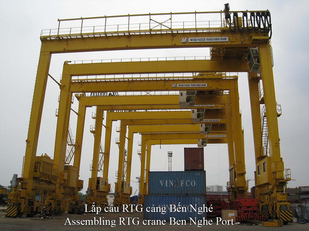 Cung cấp và lắp dựng cần cẩu cảng Bến Nghé