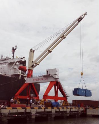 cung cấp lắp dựng 02 chân đế chạy trên ray cần cẩu MacGregor cảng Thị Vải