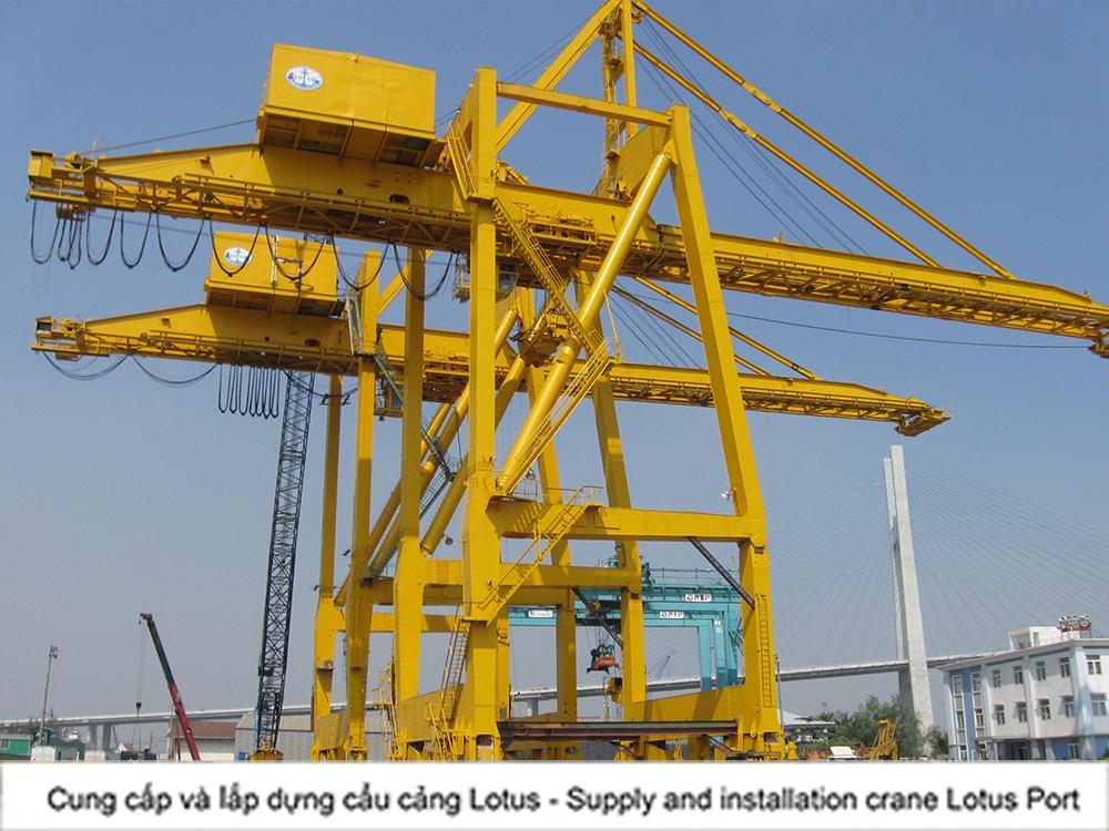 Cung cấp và lắp dựng hệ thống cần cẩu cảng Lotus