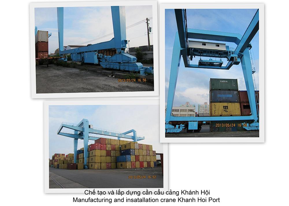 Cung cấp và lắp dựng cần cẩu cảng Khánh Hội